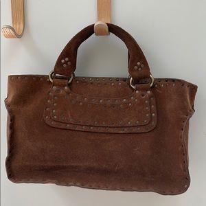 Brown suede Celine Boogie Bag